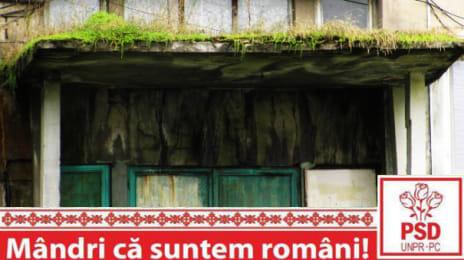 Mândri că suntem români - Bloc părăginit cu verdeață pe el, probabil la Lupeni