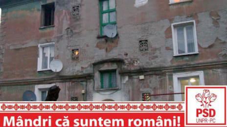 Mândri că suntem români - Bloc ruinat din Uricani