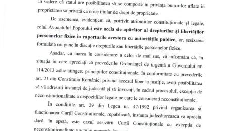Răspunsul petiției numărul 11522 la Avocatul Poporului, pagina 2