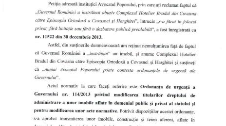 Răspunsul petiției numărul 11522 la Avocatul Poporului, pagina 1