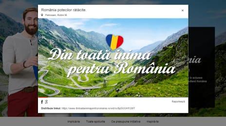 Din toată inima pentru România