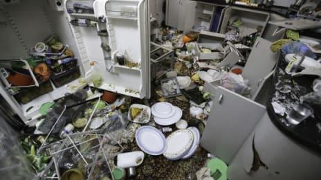 Bucătăria familei Qawasmeh din care n-a rămas niciun pahar ne-spart