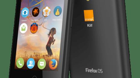 Smartphone Orange Klif cu Firefox OS
