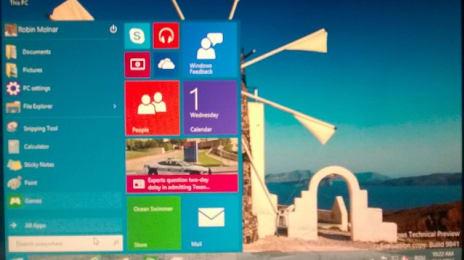 Bun, tocmai rulez #windows 10 Technical Preview. Îmi place noul buton de #start