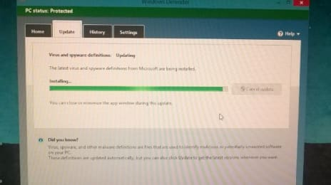 #Windows Defender se actualizează pe #windows 10 chiar din prima zi!