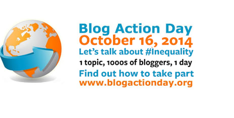 Blog Action Day 2014 #bad2014 #Oct16 #Inequality #BlogAction14