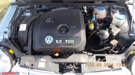 Motor diesel în 3 pistoane la VW Lupo 3L 1199cc, dezvoltă în jur de 61 de cai putere
