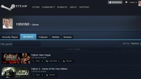 Sunt mare fan Fallout, cu peste 139 de ore jucate în Fallout 3 și 227 de ore jucate în Fallout New Vegas, în versiunile pentru Steam