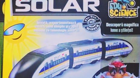 Tren solar, se asamblează de la zero! Asta da jucărie strașnică pentru copii!