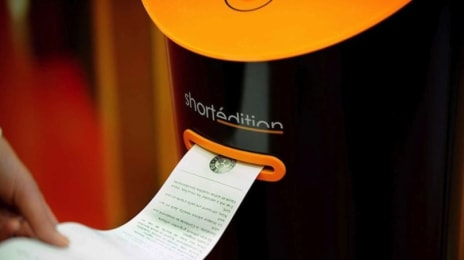 Dispensor automat de literatură Shortedition în Grenoble, Franța