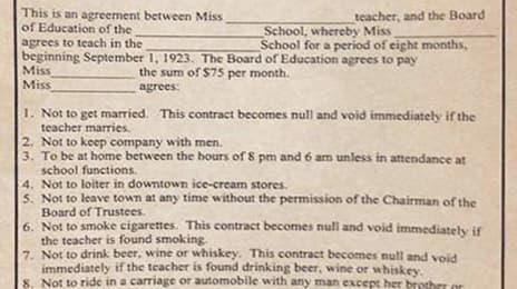 Așa arăta contractul unei profesoare în SUA, la 1923