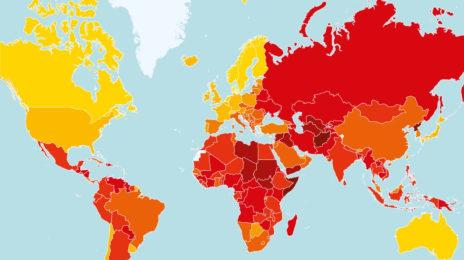 Harta corupției la nivel mondial