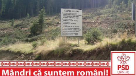 Mândri că suntem români - Pe unde s-a refăcut drumul, s-a defrișat în neștire