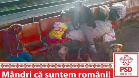 Mândri că suntem români - Oamenii străzii în gara din Deva