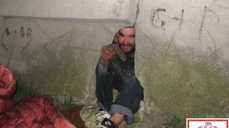Mândri că suntem români - Aurolac ieșind dintr-o gaură într-un zid