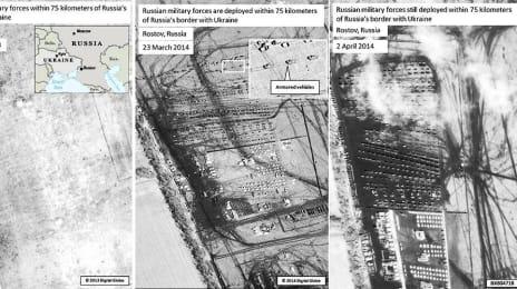 Prezența trupelor rusești la Rostov (în apropiere de granița cu Ucraina) în 25 Octombrie 2013, respectiv în 23 Martie și 2 Aprilie 2014 - Evidențiere detalii