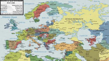 Harta Europei în 2100