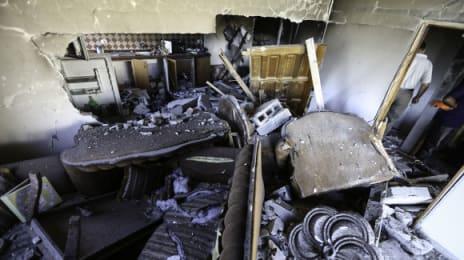 Rămășitele bucătăriei și sufrageriei de la etajul al doilea - n-a mai rămas nimic, spune Umm Sharif Qawasmeh