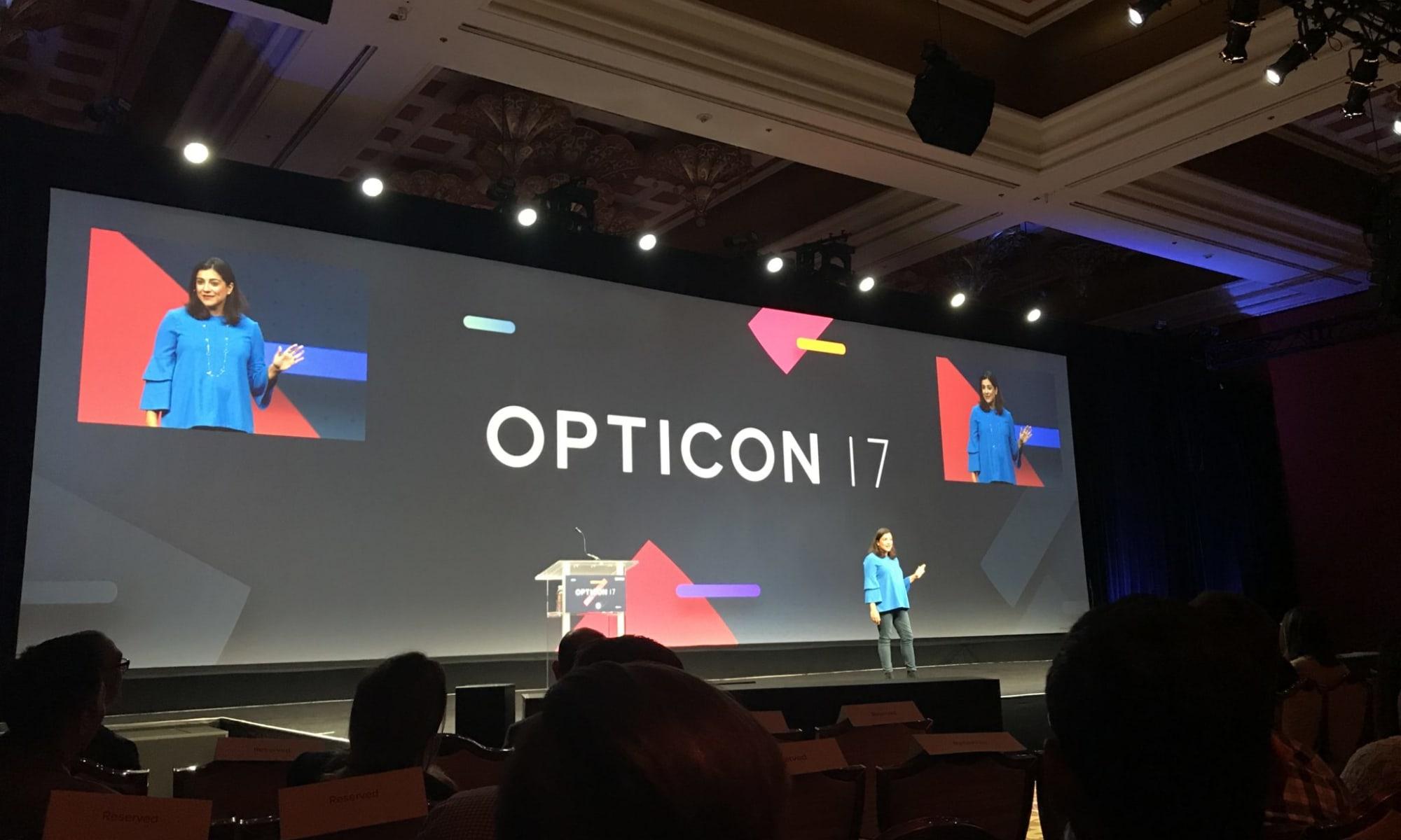 Opticon 2017 - Presentation screen