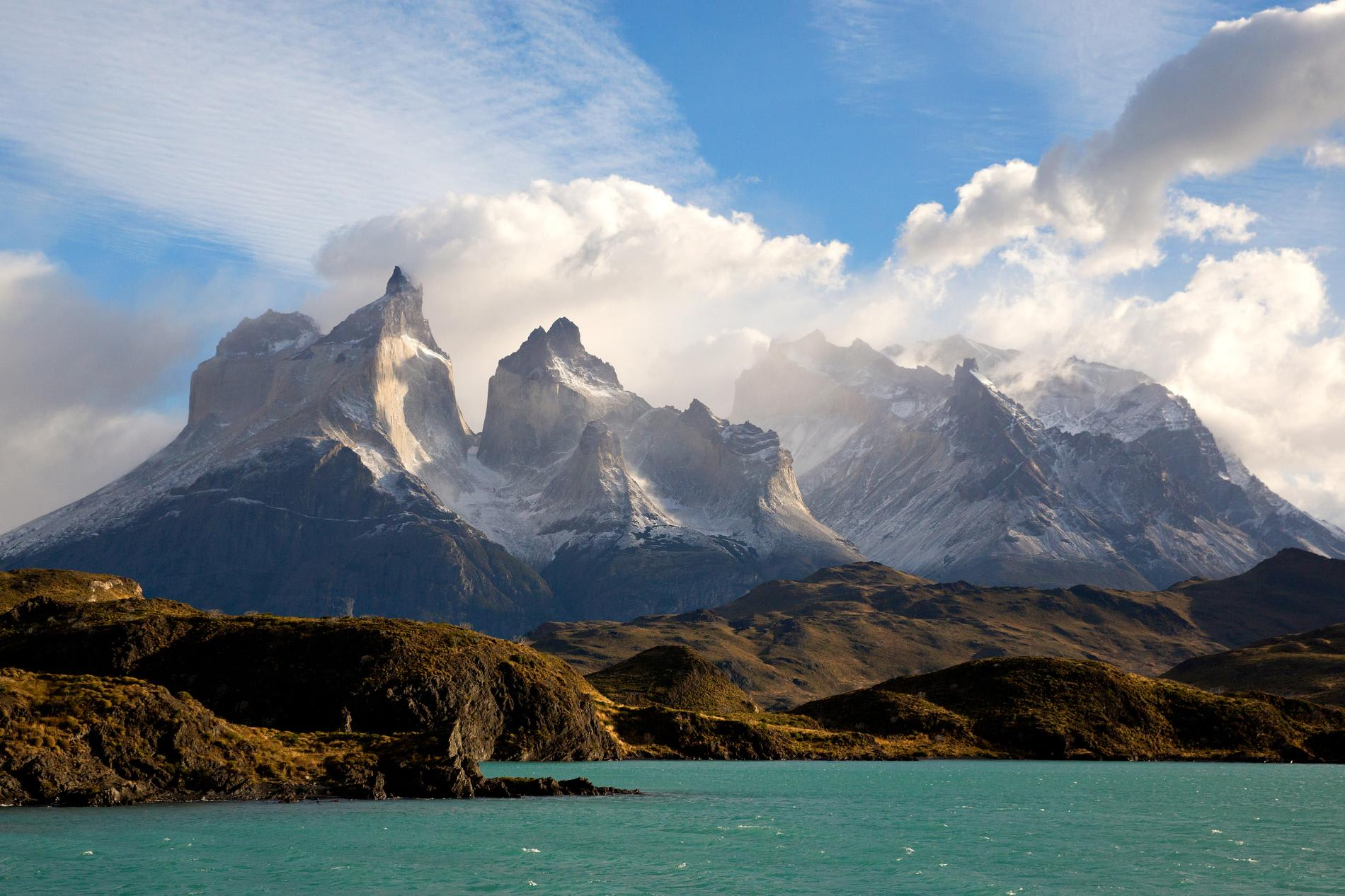 Torres del Paine in Patagonia - mountains and water