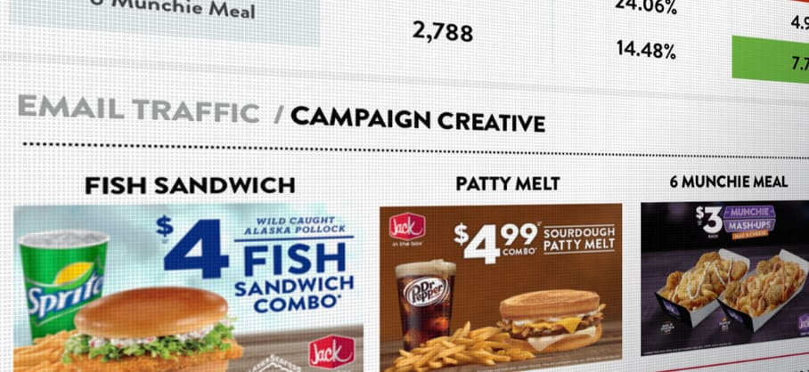 Menu from Jack in the Box