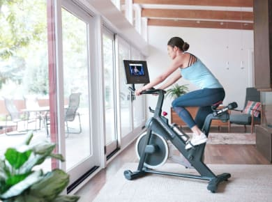 Person exercising on a Proform exercise bike