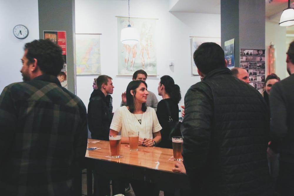 Camp Optimization January 2017 - crowd socializing