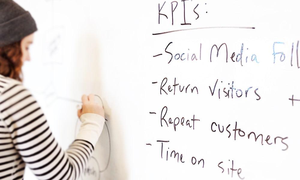 whiteboarding to identify success metrics