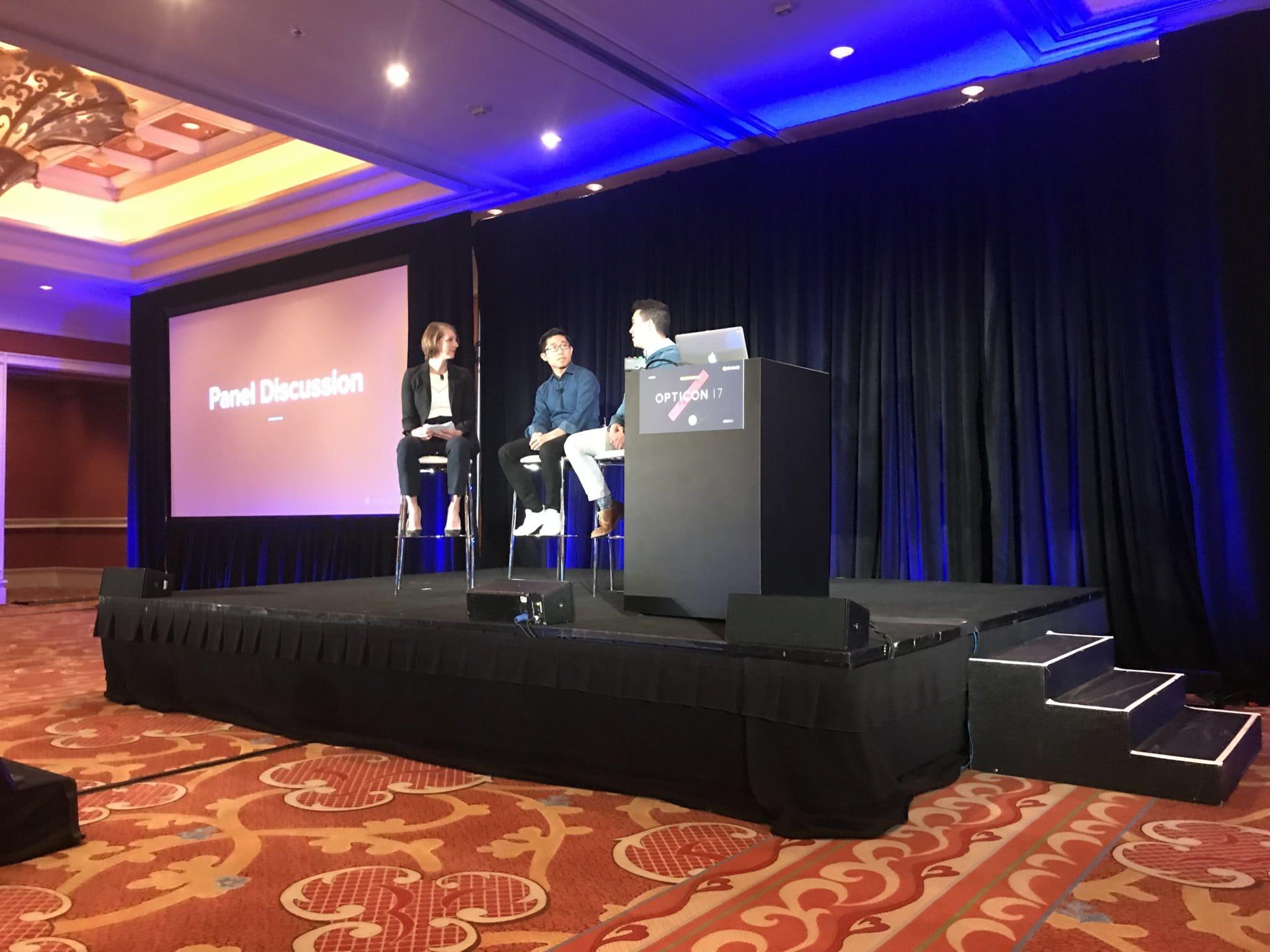 Opticon 2017 - Presentation panel discussion
