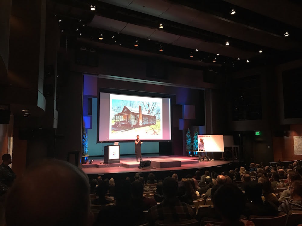 Portland Creative Conference - Angela Medlin in front of audience