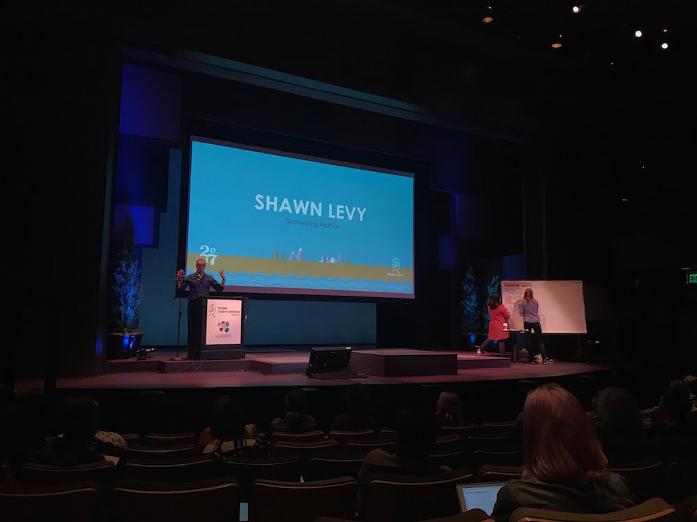 Portland Creative Conference - Shawn Levy in front of audience