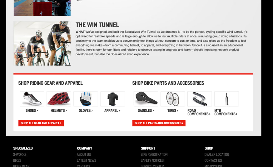 Specialized bikes embedded sopping