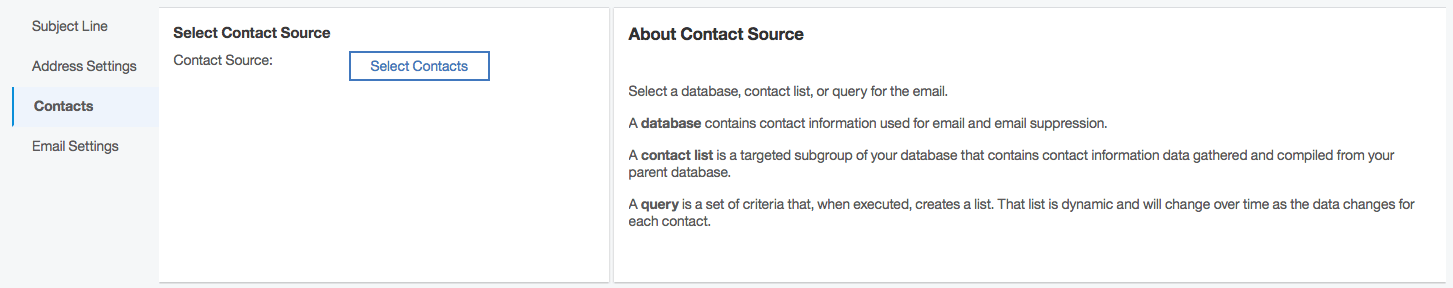 Watson select contact source screen shot
