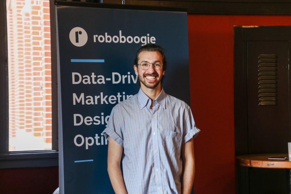speaker Aaron Stusser roboboogie Camp Optimization Event - May 2018