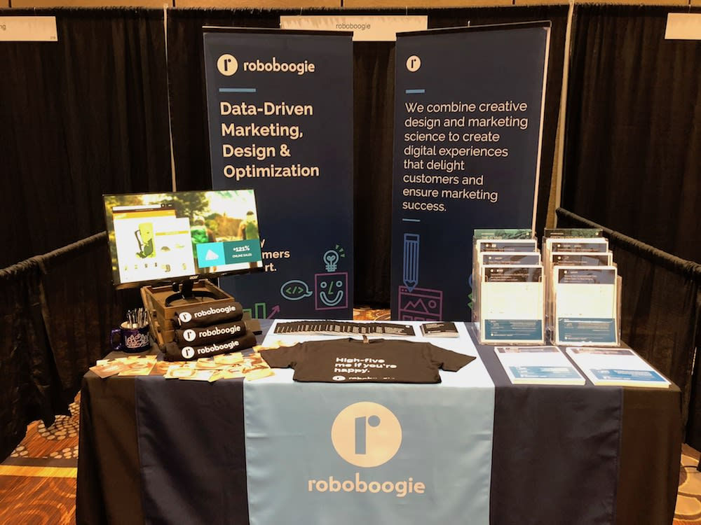 roboboogie's booth at digital growth unleashed