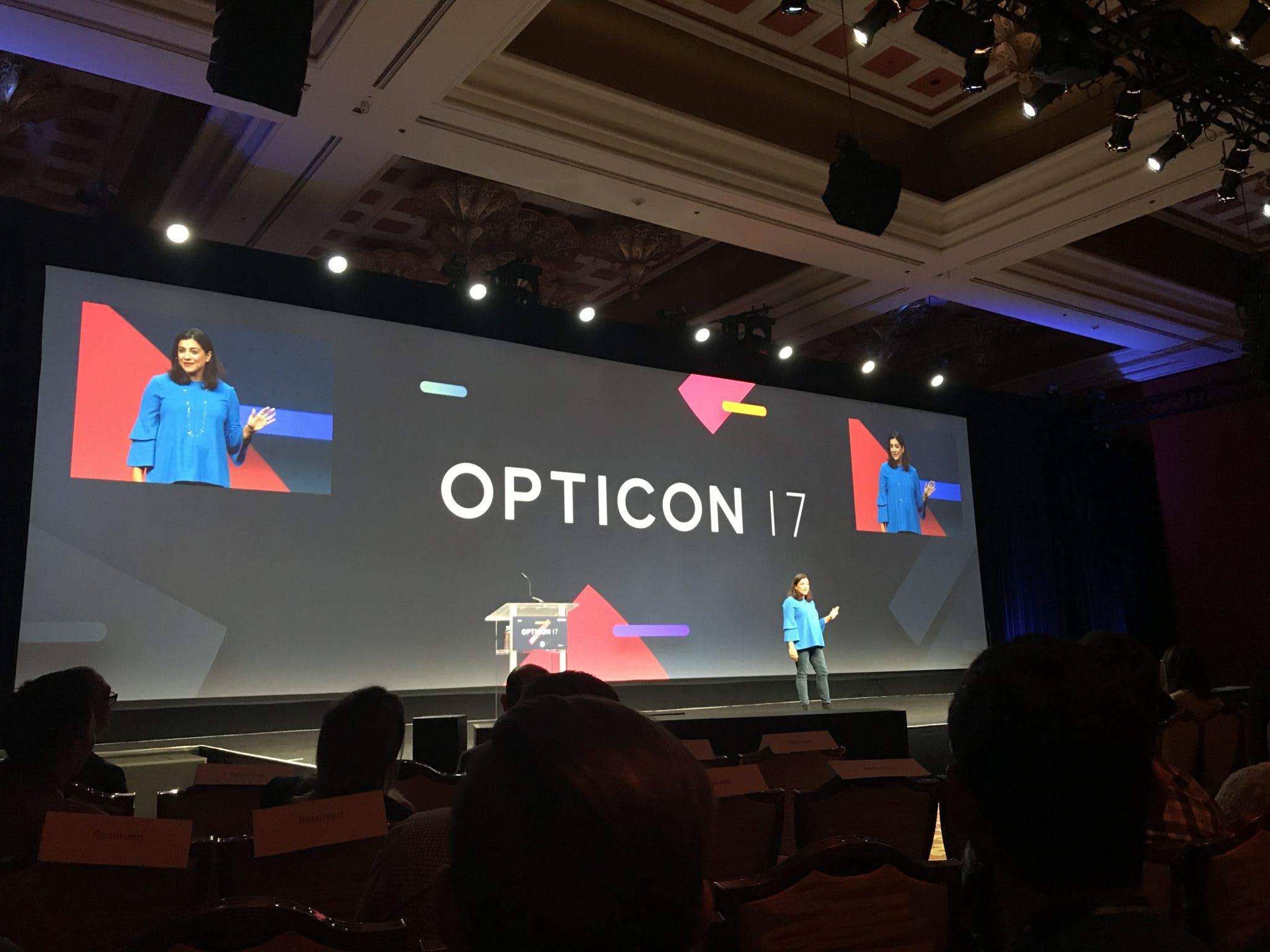 Opticon 2017 - Presentation screen w/audience