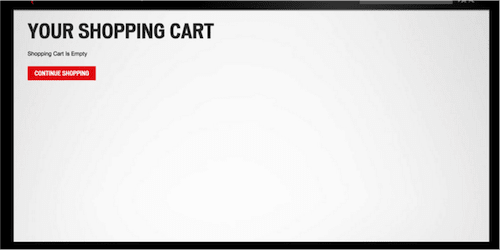 Shopping cart before redesign