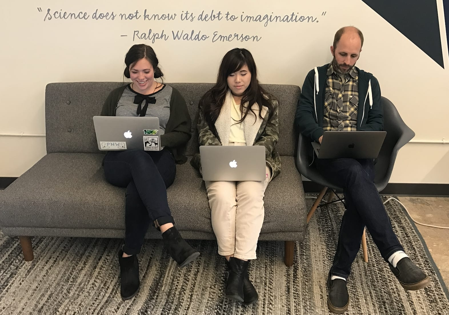roboboogie team collaborating in the office