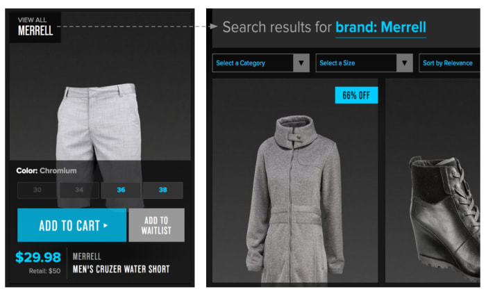 example of e-commerce app
