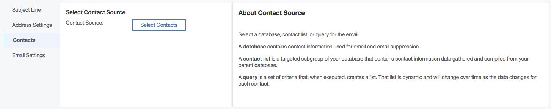 Watson select contact source screen shot
