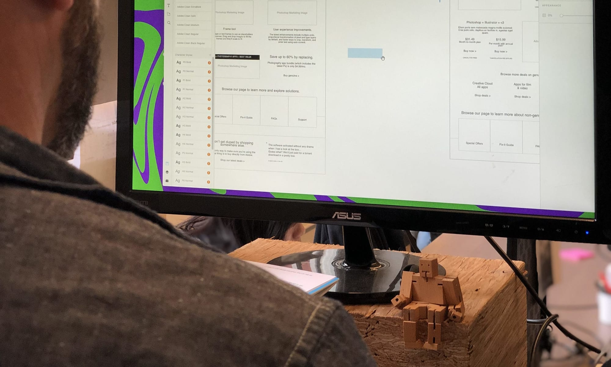 CXO, John Gentle, working in design file.