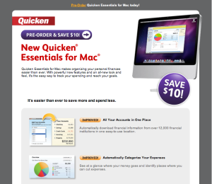 Quicken Essentials Advertisement