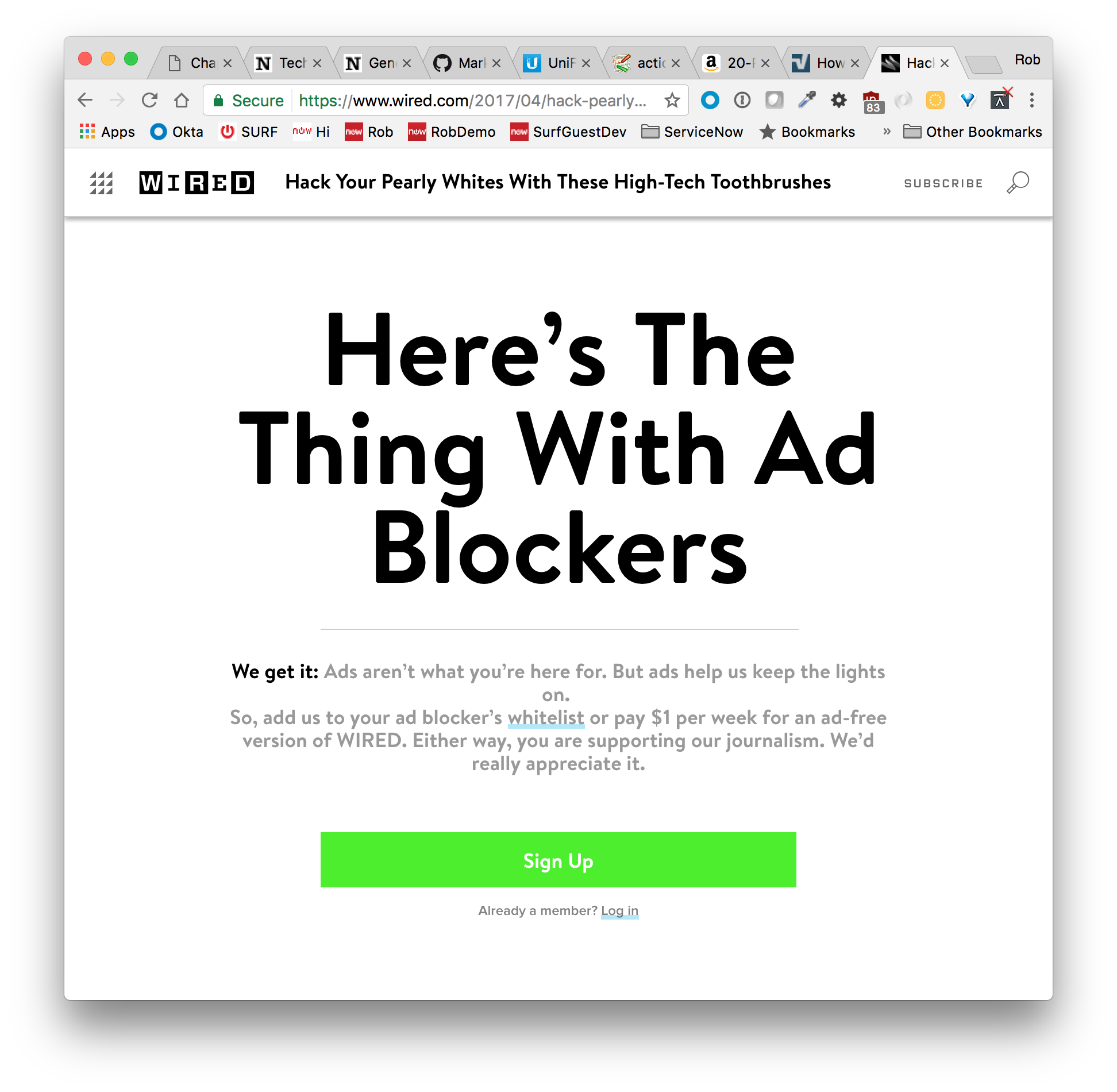 Wired Block Page