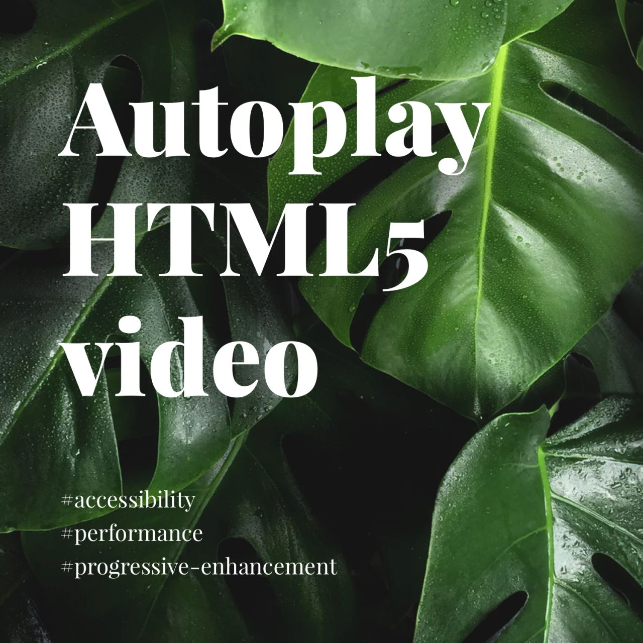 Autoplay HTML5 video on iOS, android and desktop: Rob