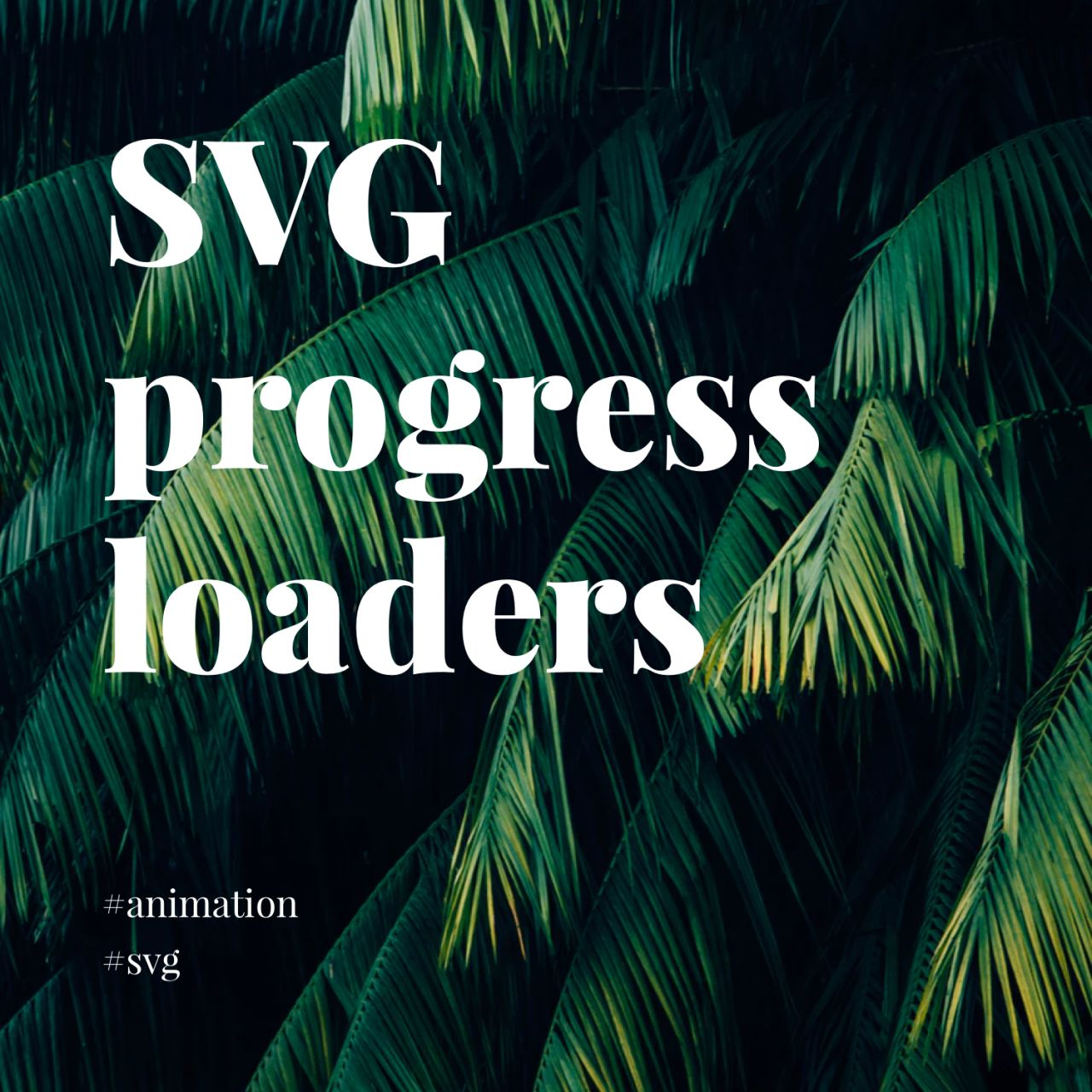 40 adaptable progress loaders using inline SVG and CSS: Rob