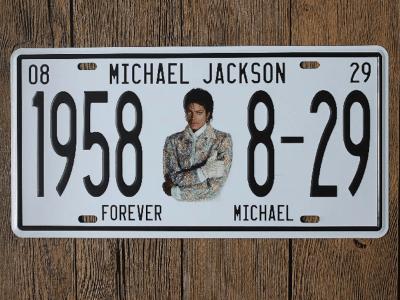 """Matrícula Vintage Michael Jackson Coleccionista """"CUMPLEAÑOS"""", Alta Calidad, duradero, Decorativo"""
