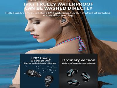 Auriculares Bluetooth 5.0 con Micrófono, 4-5 Horas de reproducción continua, IPX7 Impermeable