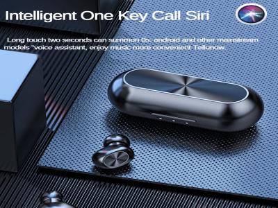 Auriculares Bluetooth 5.0 con Micrófono, Chip TWS, Impermeable y Reducción de Ruido