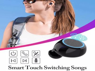 Auriculares Bluetooth 5.0 con Micrófono, Chip TWS, Impermeable, Reducción de Ruido, Apto para Gaming
