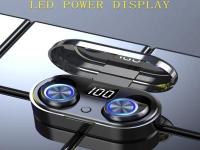 Auriculares Bluetooth 5.0, Chip TWS80, Impermeable, Reducción de Ruido, Gaming